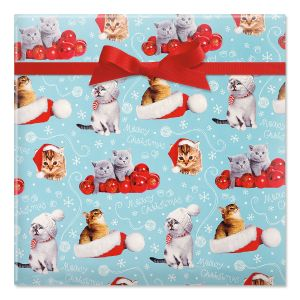 Photo Cats Rolled Gift Wrap