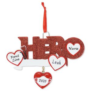 Front Line Nurse Hero Christmas Ornament