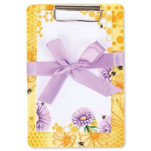 Bee/Yellow Notepad & Clipboard Gift - BOGO