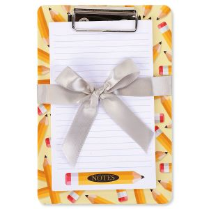 Yellow Pencil Notepad & Clipboard Gift Set - BOGO
