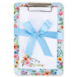Floral/Blue Notepad & Clipboard Gift Set - BOGO