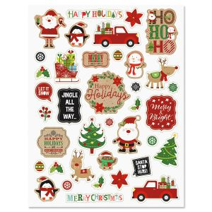 Crafty Christmas Stickers - BOGO
