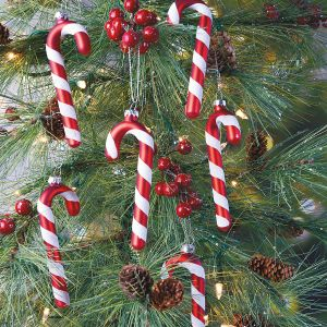 Glass Candy Cane Ornaments