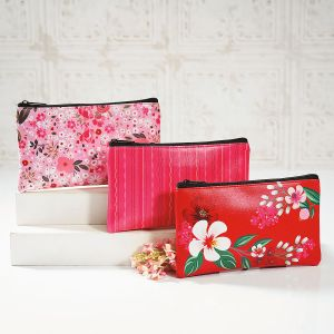 Spring Pink Zipper Bags