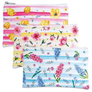 Fresh Blossoms Zipper Bags