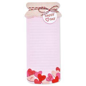 Valentine Jar Note Pads - BOGO