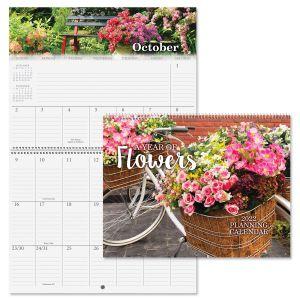 2022 A Year of Flowers Big Grid Calendar