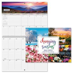 2022 Changing Seasons Big Grid Planning Calendar