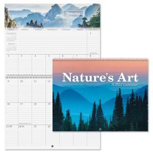 2022 Nature's Art Big Grid Planning Calendar
