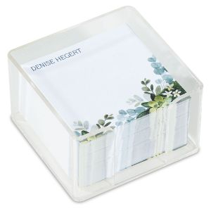 Olive Bloom Personalized Notes in a Cube