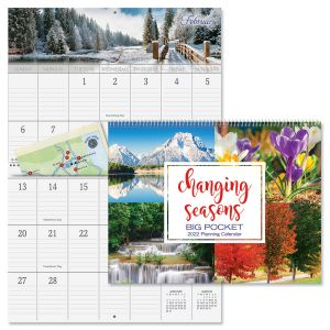 2022 Changing Seasons Big Grid Calendar with Pockets