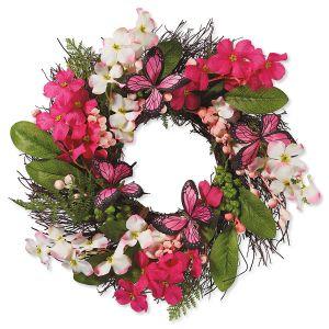 Floral Pink Spring Wreath
