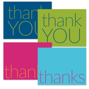 Colorful Thank You Note Cards