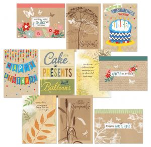 Kraft Assortment Greeting Cards Value Pack