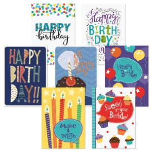 Simple Fun Birthday Greeting Cards Value Pack