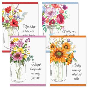 Watercolor Bouquets Get Well Cards and Seals