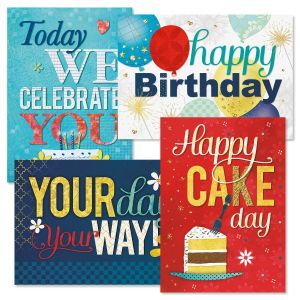 Bright & Bold Birthday Cards and Seals