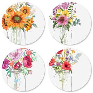 Watercolor Bouquets Seals (4 Designs)
