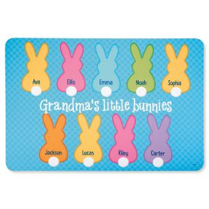 Grandma's Little Bunnies Personalized Doormat