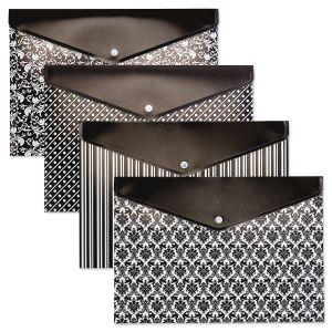 Black Elegance Snap Folders