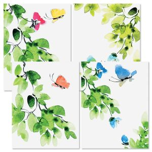 Spring Butterfly Note Cards