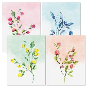 Watercolor Branches Note Cards
