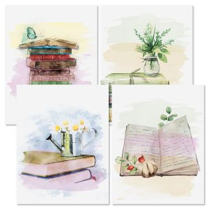 Book Lovers Note Cards