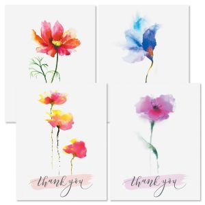 Sweet Floral Thank You Note Cards