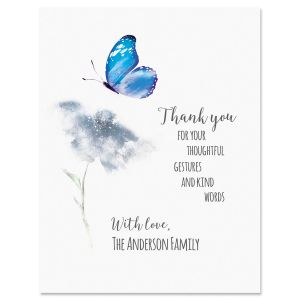 Butterfly Personalized Thank You Note Cards