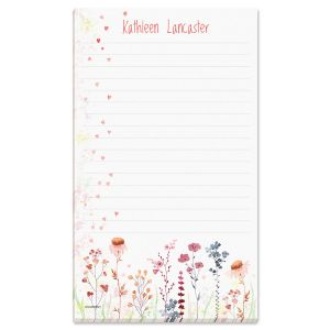 Hearts & Flowers Personalized Memo Pad