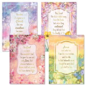 Deluxe Pastel Fields Faith Easter Cards