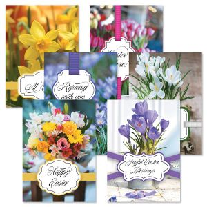 Deluxe Floral Faith Easter Cards Value Pack