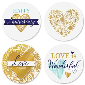 Gold Heart Seals (4 Designs)