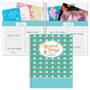 Dots & Daisies Greeting Card Organizer Book