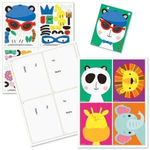 Zoo Animals Make- a- Face Activity Cards