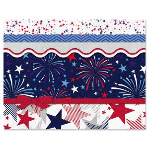 Fireworks Patriotic Note Cards