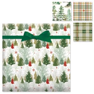 Peaceful Forest Flat Gift Wrap Sheets Value Pack