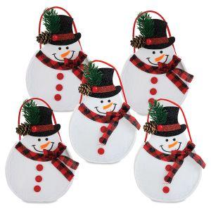 Snowman Joy Felt Treat Bags