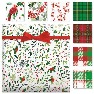 Cardinal Flat Gift Wrap Sheets Value Pack