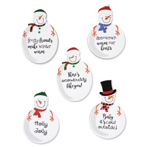 Flat Snowman Magnets - BOGO