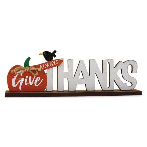 Always Give Thanks Tabletop Decoration