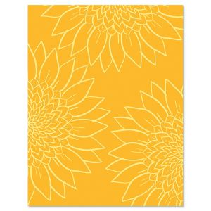 Sunflower Thanks Note Cards
