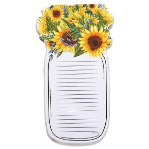 Diecut Sunflower Jar Notepad - BOGO