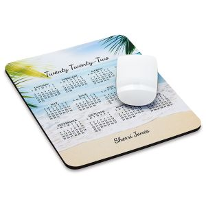 Paradise Personalized 2022 Calendar Mousepad