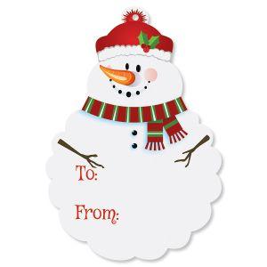 Diecut Snowman Gift Tags - BOGO