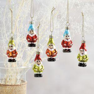 Glass Gnomes Ornaments