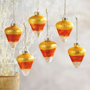 Glass Candy Corn Ornaments