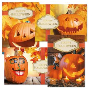 Deluxe Photo Ribbon Halloween Cards