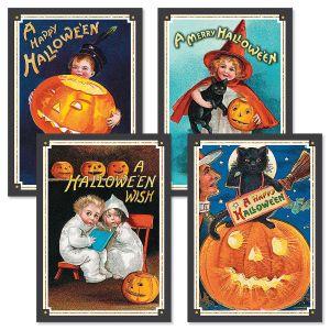 Retro Halloween Cards