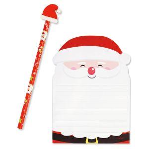 Santa Notepad and Pencil